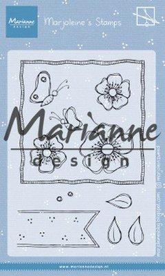 Marianne Design Stamp - Marjoleine's Anemones MZ1902