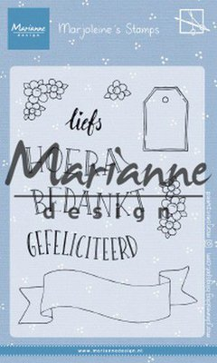 Marianne Design Stamp - Marjoleine's Teksten & Labels MZ1904