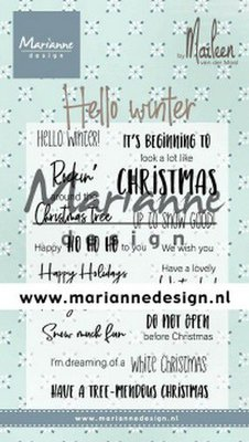 Marianne Design Stamp - Marleen's Hello Winter CS1037
