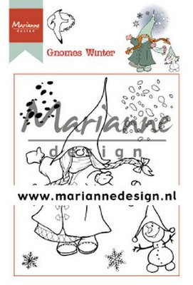 Marianne Design Stamp - Hetty's Gnomes Winter HT1648
