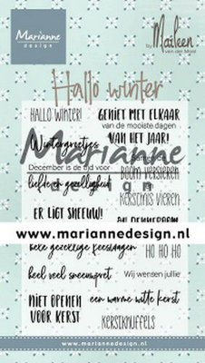 Marianne Design Stamp - Marleen's Hallo Winter CS1036