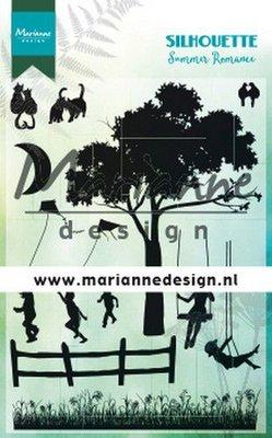 Marianne Design Stamp - Silhouette Summer Romance CS1032