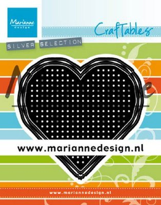 Marianne Design Craftable - Cross Stitch Heart CR1482
