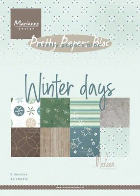 Marianne Design Paper Pack A5 - Marleen's Winter Days PK9164