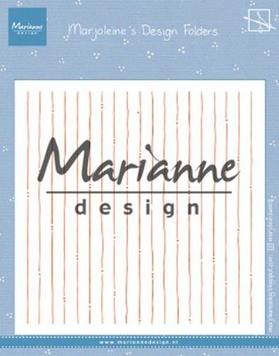 Marianne Design Embossing Folder - Marjoleine's Stripes DF3456