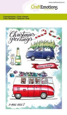 CraftEmotions Clearstamp A6 - X-mas Cars 2