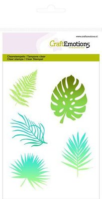 CraftEmotions Clearstamp A6 - Silhouette Tropical Leaves