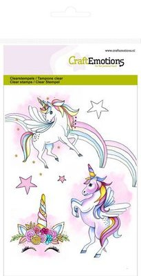 CraftEmotions Clearstamp A6 - Unicorn