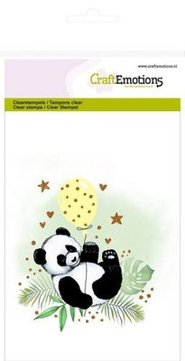 CraftEmotions Clearstamp A6 - Panda