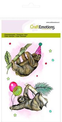 CraftEmotions Clearstamp A6 - Sloth