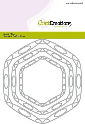CraftEmotions Die - Frames Hexagon