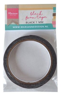 Marianne Design Foam Tape - Black 1 mm LR0026