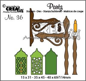 Crealies Partz 36 - Lantern CLPartz36