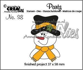 Crealies Partz 38 - Snowman CLPartz38