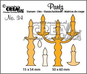 Crealies Partz 34 - Candle Holders CLPartz34