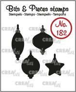 Crealies Bits & Pieces 182 - Christmas Ornaments CLBP182
