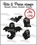 Crealies Bits & Pieces 179 - Ghosts and Bat CLBP179