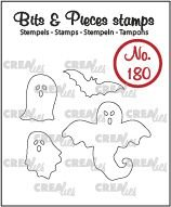 Crealies Bits & Pieces 180 - Ghosts and Bat CLBP180