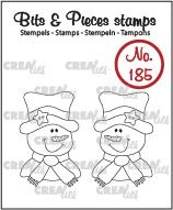 Crealies Bits & Pieces 185 - Snowman CLBP185
