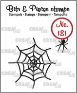 Crealies Bits & Pieces 181 - Spider and web CLBP181