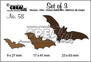 Crealies Set of 3 nr. 58 - Bats CLSet58