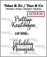 Crealies Text & Co - Kerst 23 CLTZK23