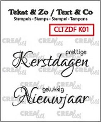 Crealies Text & Co - Kerst  1 CLTZDFK01