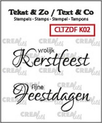 Crealies Text & Co - Kerst  2 CLTZDFK02