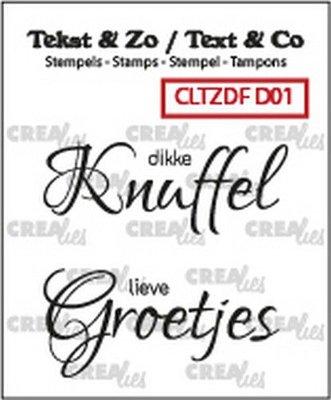 Crealies Text & Co - Divers  1 CLTZDFD01