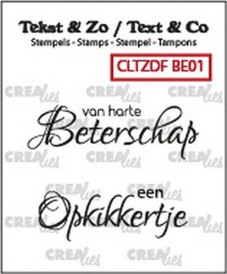 Crealies Text & Co - Beterschap  1 CLTZDFBE01