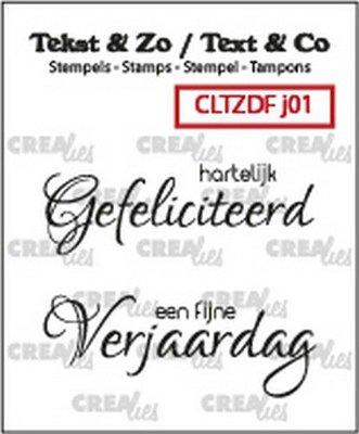 Crealies Text & Co - Jarig  1 CLTZDFJ01