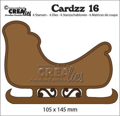 Crealies Cardzz 16 - Sled CLCZ16