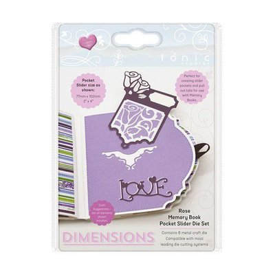Tonic Studios Die - Memory Book Pocket Slider Rose 2508E