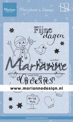 Marianne Design Stamp - Marjoleine's Snowman MZ1905