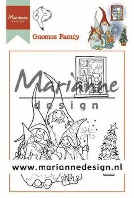Marianne Design Stamp - Hetty's Gnome Family HT1650