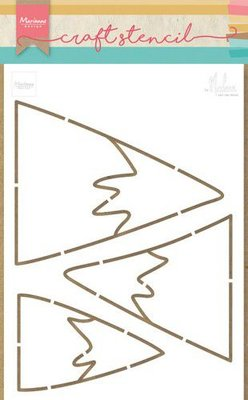 Marianne Design Craft Stencil - Mountains by Marleen PS8045