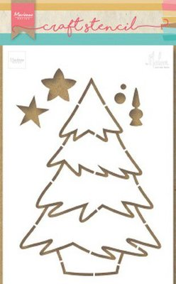 Marianne Design Craft Stencil - Christmas Tree by Marleen PS8046