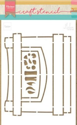 Marianne Design Craft Stencil - Fire Place by Marleen PS8048