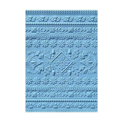 Sizzix 3-D Textured Impressions Embossing Folder - Folk Art Pattern 663613