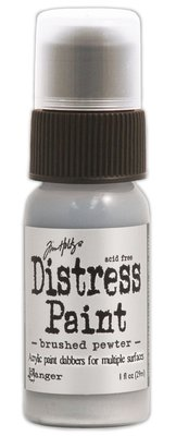 Ranger Distress Paint - Brushed Pewter TDD36326