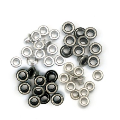 We R Memory Keepers Eyelets - Cool Metal