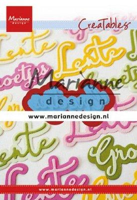 Marianne Design Creatable - Tekst: Groetjes LR0646