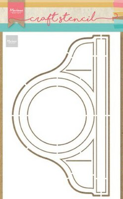 Marianne Design Craft Stencil - Pendule (Clock) PS8049