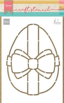 Marianne Design Craft Stencil - Easter Egg by Marleen PS8055