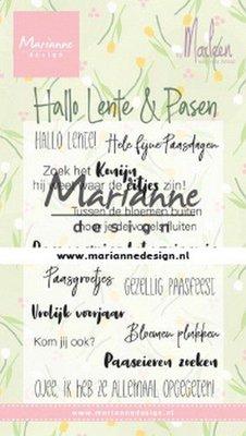 Marianne Design Stempel - Marleen's Hallo Lente en Pasen CS1043