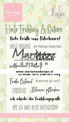Marianne Design Stempel - Marleen's Hallo Frühling und Ostern CS1045