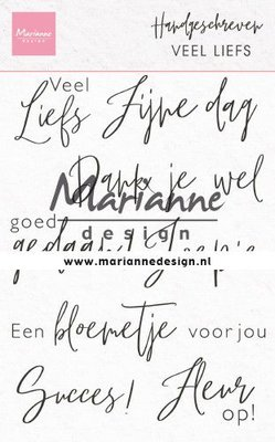 Marianne Design Stempel - Handgeschreven: veel Liefs CS1050
