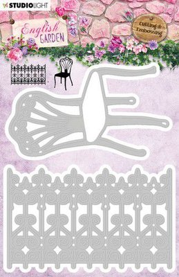 Studio Light Embossing Die - English Garden STENCILEG236