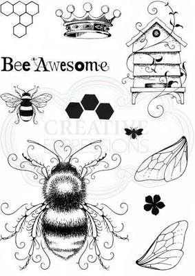 Creative Expressions Clear Stamp A5 - Bee-utiful