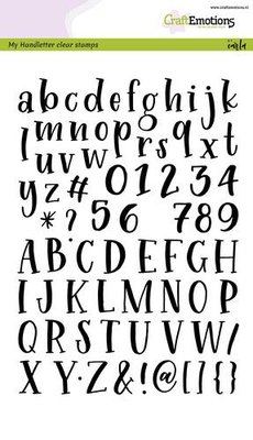 CraftEmotions Clearstamp A5 - Alphabet Typewriter Handletter